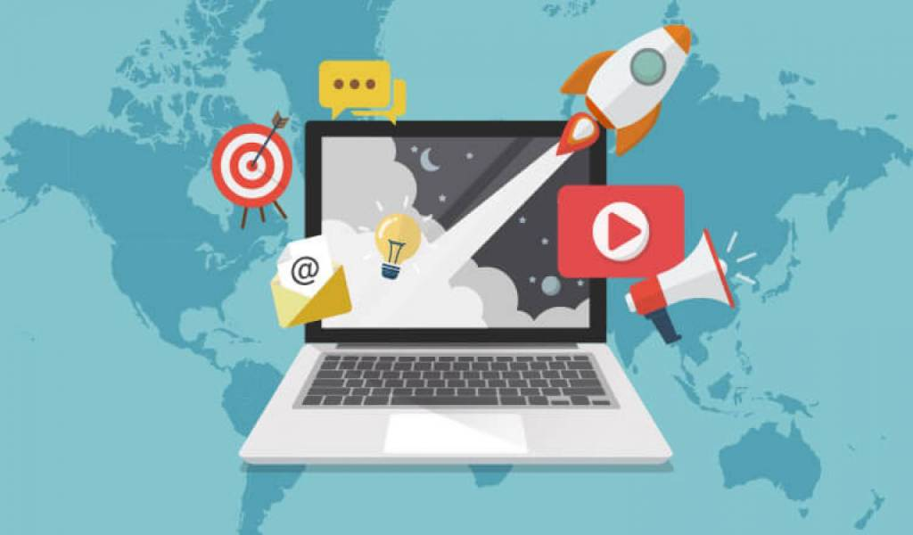 What are the various components of a digital marketing strategy?