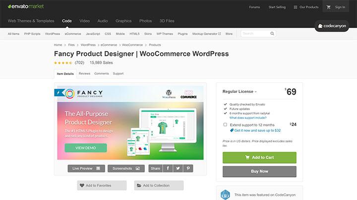 WooCommerce product customizer