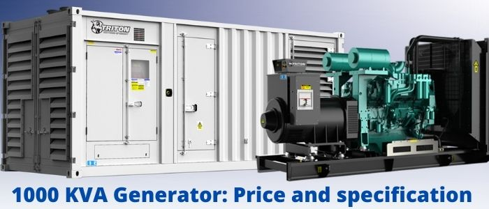 1000kVA Generator: Price and specification