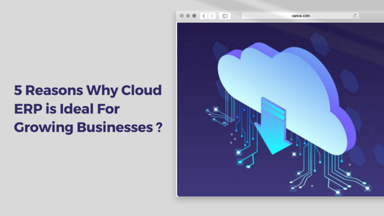 5 Reasons Why Cloud ERP is Ideal For Growing Businesses